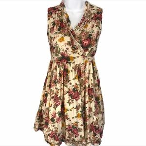 Cupcakes & Pastries floral wrap dress NWT